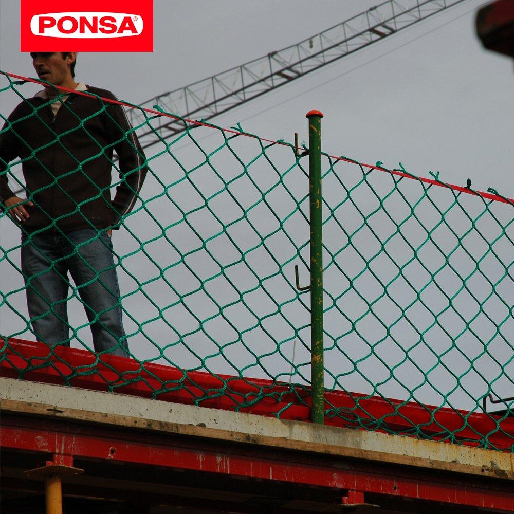 Es el sistema patentado por Industrias Ponsa de red de protección de borde provisional. MÁXIMA SEGURIDAD PARA REALIZAR TRABAJOS EN ALTURA
